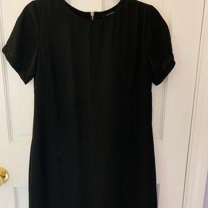 Black Chiffon Mini Dress